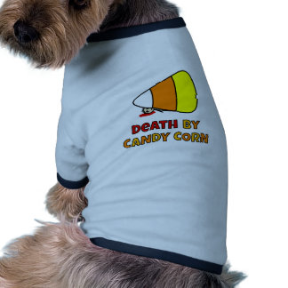 Death by Candy Corn Ringer Dog Shirt