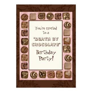 Death by Chocolate Birthday Party Invitation