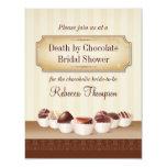 Death by Chocolate Bridal Shower Custom Invitation