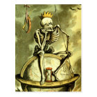 Death Conquers the Globe Postcard