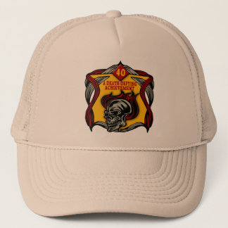 Death-Defying 40th Birthday Gifts Trucker Hat