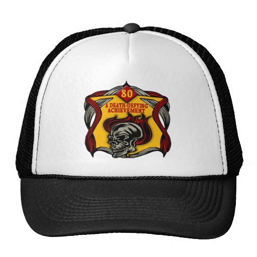 Death Defying 80th Birthday Gifts Hat
