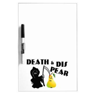 Death & Dis Pear Dry Erase Board