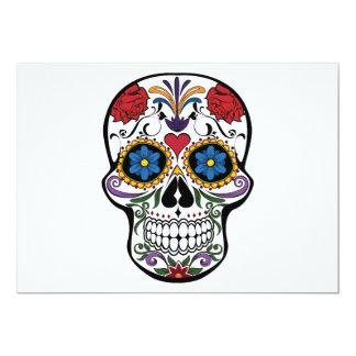 Death head flowers 13 cm x 18 cm invitation card
