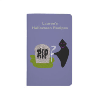 Death in the Cemetery Halloween Custom Recipe Journal