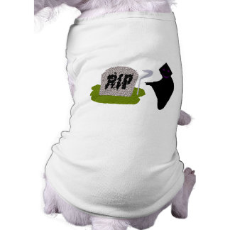 Death in the Cemetery Halloween Dog T Shirt