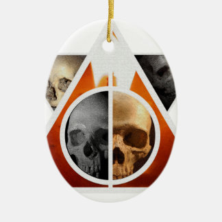 'Death Is Merely A Graduation' Ceramic Oval Decoration