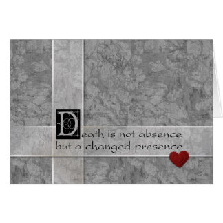 Death is not absence card