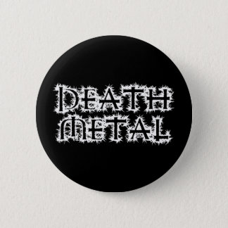 Death Metal 6 Cm Round Badge