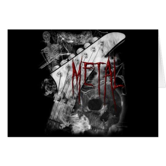 Death Metal Guitar Card