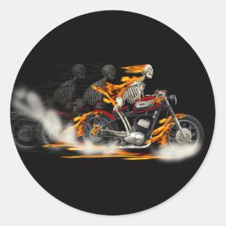 Death Metal Motorbike Riders Rubber burn Stickers