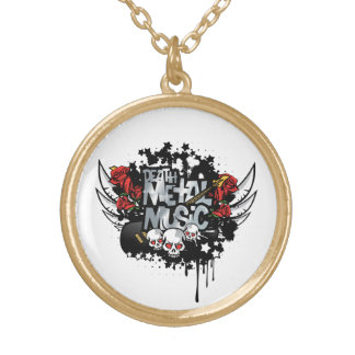 Death Metal Music Necklace