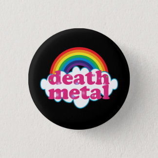 Death Metal rainbow design 3 Cm Round Badge