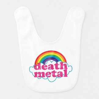 Death Metal rainbow design Baby Bibs