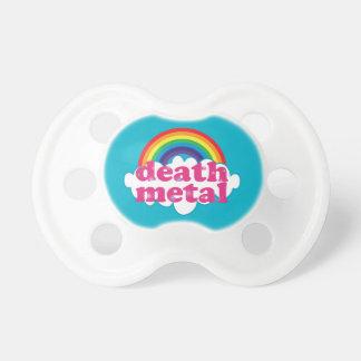 Death Metal rainbow design Baby Pacifier