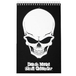 Death Metal Skull Cranium Collection Calendar
