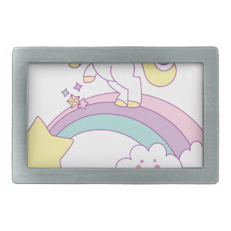 Death Metal unicorn Belt Buckle