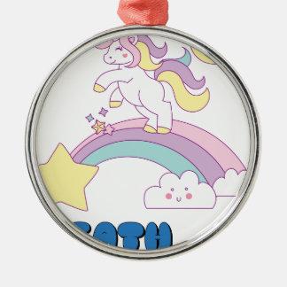 Death Metal unicorn Christmas Ornament