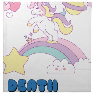 Death Metal unicorn Napkin