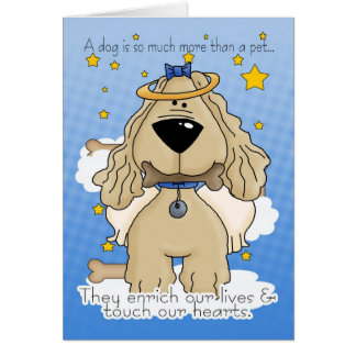Death of a Dog Sympathy Card - Loss Of Pet Dog - D