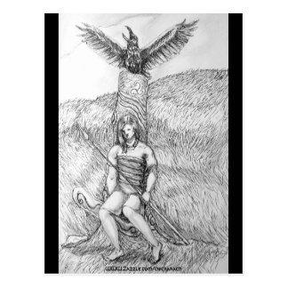 Death of Cu Chulainn,  Postcard, Postcard