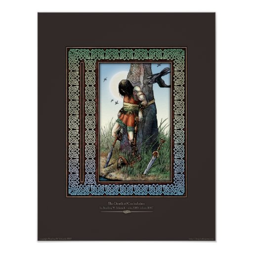 "Death of Cuchulainn Poster (14x18"")"