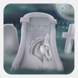 Death of Democrat Party Concept Sticker