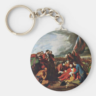 Death Of General Wolfe By West, Benjamin Basic Round Button Key Ring