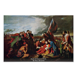 Death Of General Wolfe By West, Benjamin Print