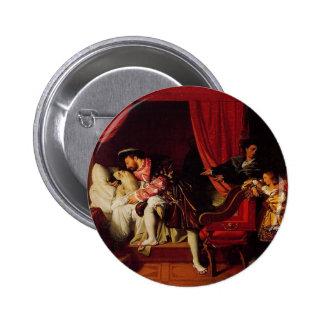 Death of Leonardo Da Vinci by Ingres circa 1818 6 Cm Round Badge