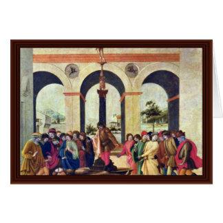 Death Of Lucretia By Lippi Filippino Cards