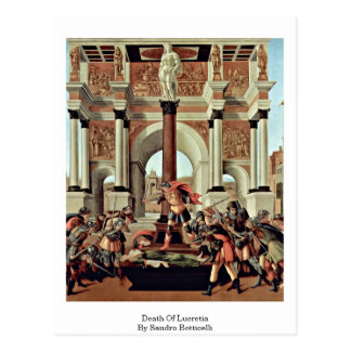 Death Of Lucretia By Sandro Botticelli Postcards