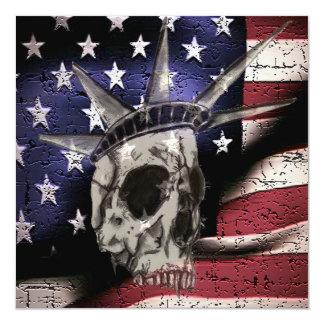Death Or Liberty 13 Cm X 13 Cm Square Invitation Card