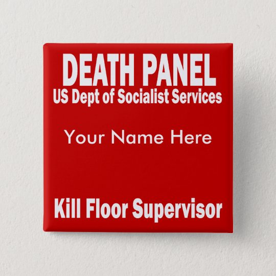 Death Panel - Kill Floor Supervisor 15 Cm Square Badge