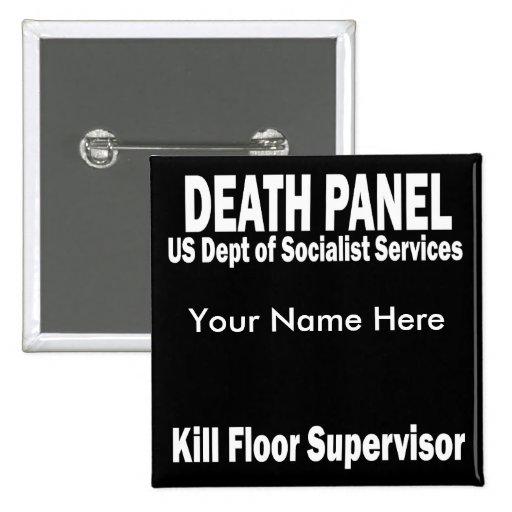 Death Panel - Kill Floor Supervisor 15 Cm Square Badge