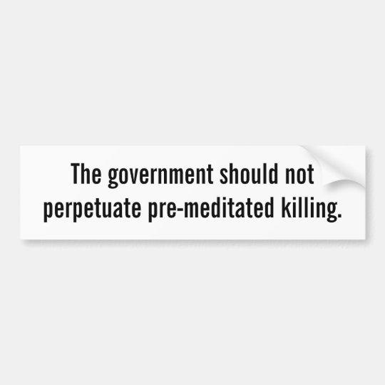Death Penalty Bumper Sticker