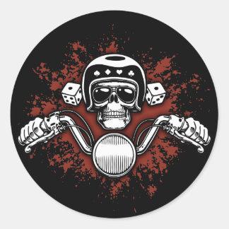 Death Rider - Dice Round Sticker