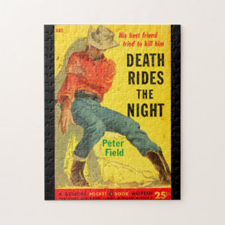 Death Rides the Night western book cover Puzzle