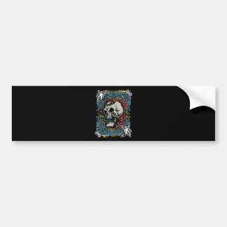 Death Skull Grave RIP Skeleton Bumper Sticker