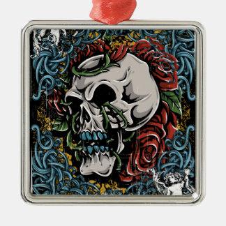 Death Skull Grave RIP Skeleton Christmas Ornament