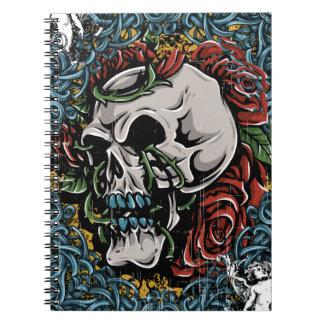 Death Skull Grave RIP Skeleton Notebooks