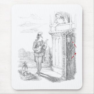 Death Stalks Young Lovers Mouse Pad