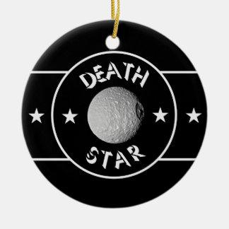 Death star round ceramic decoration