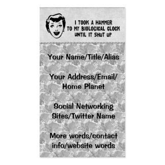 Death To Biological Clocks Double-Sided Standard Business Cards (Pack Of 100)