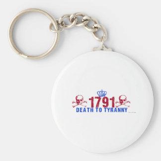 Death to Tyranny Basic Round Button Key Ring