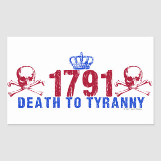 Death to Tyranny Rectangular Sticker