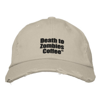 Death to Zombies Coffee Cap Embroidered Baseball Caps