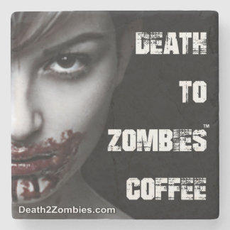 Death to Zombies Coffee Coasters Stone Coaster