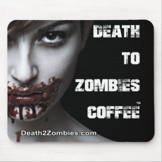 Death to Zombies Coffee Mouse Mat