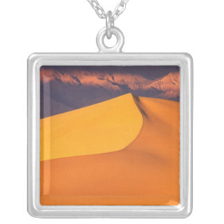 Death Valley at Dawn. California Silver Plated Necklace